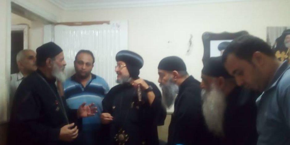 أسقف شبرا الخيمة يوجه رسالة للشعب المصري بعد إحباط تفجير كنيسة مسطرد