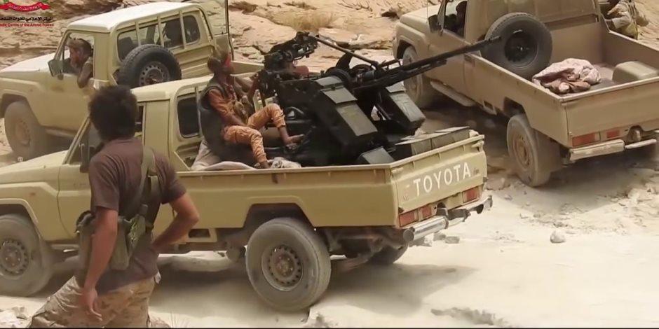 """شاهد """"قطع رأس الأفعى"""".. معركة قوات التحالف والجيش اليمنى مع ميليشيا الحوثى داخل صعدة"""