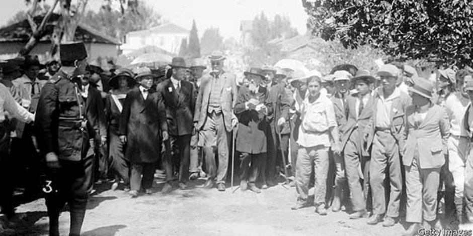 رفض الانتداب البريطاني علي فلسطين.. حكاية مؤتمر نابلس 24 أغسطس 1922