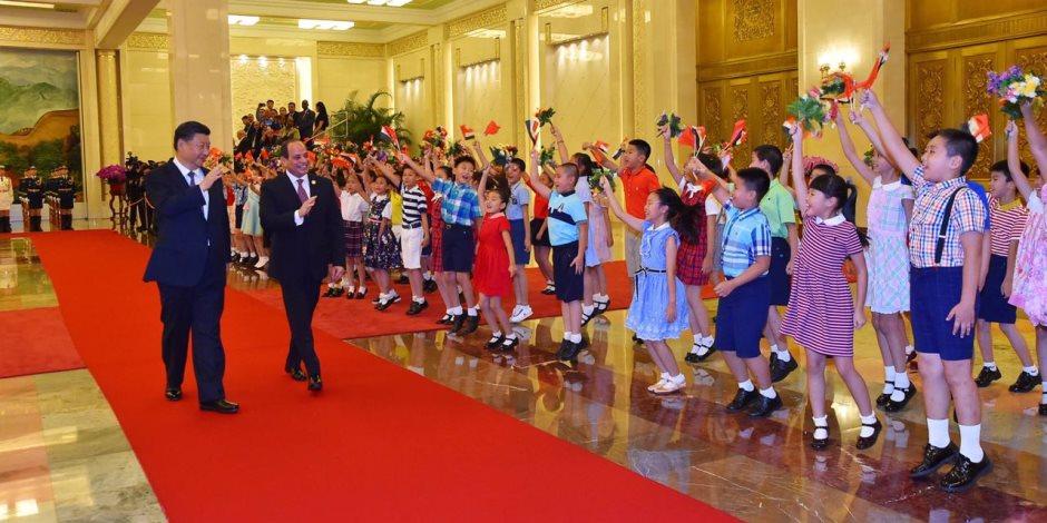 ماذا قالت وسائل الإعلام الصينية عن زيارة الرئيس السيسي؟ (صور)