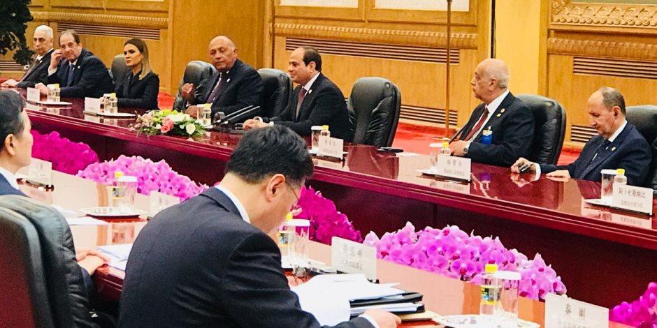 """الرئيس السيسى يشارك بالجلسة الافتتاحية لقمة منتدى """"الصين- أفريقيا"""""""