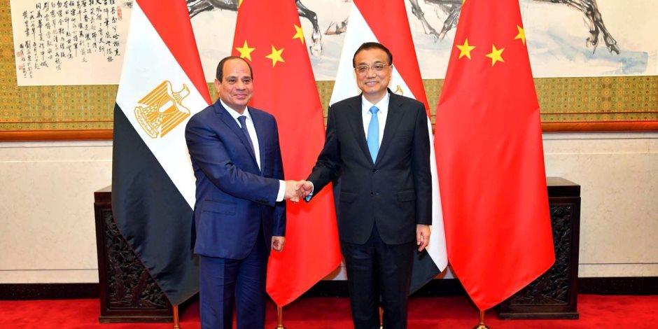 خلال لقائه رئيس وزراء الصين.. السيسي: نتطلع لمزيد من التعاون لزيادة حجم التبادل التجاري