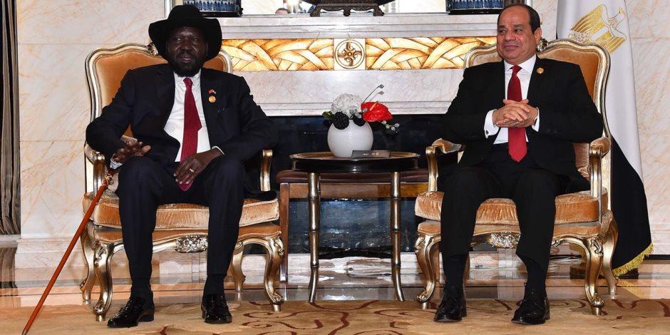 مساندة مصر لتحقيق تسوية بجنوب السودان.. ماذا قال الرئيس السيسي إلى سلفا كير؟