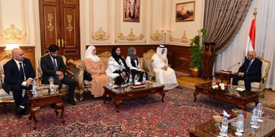 """مصر بلد الريادة.. أمين عام برلمان البحرين يشيد بتدريب """"النواب"""" في مصر (صور)"""