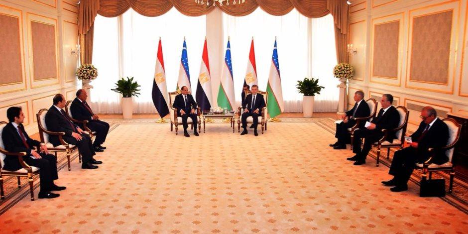 السيسي من أوزباكستان: مصر حريصة على تحقيق مصالح الدول الصديقة بغض النظر عن الاعتبارات