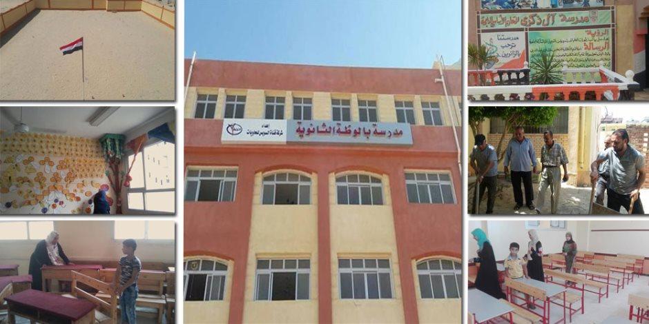 ملحمة تجهيز المدارس في سيناء.. أهالي العريش يتحدون الإرهاب بـ «الكراريس» (صور)