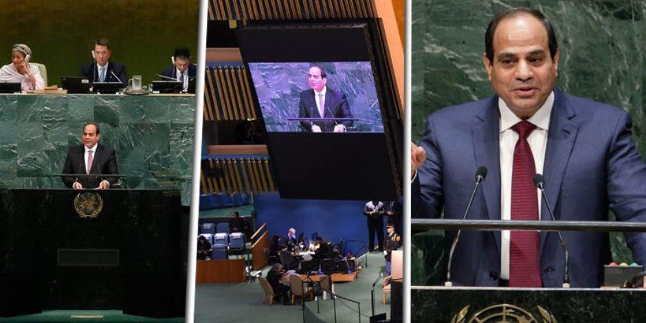 """يوسف أيوب يكتب: السيسى فى الأمم المتحدة.. مصر تتحدث أمام العالم """" صور وفيديو"""""""