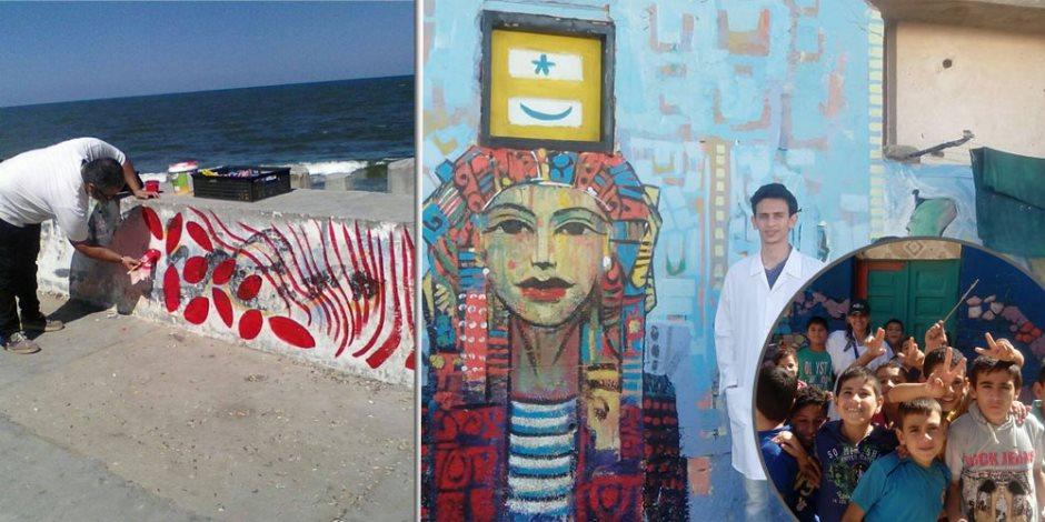 بمشاركة 42 فنانا من 18 دولة عربية وأجنبية.. «البرلس» تتحول إلى قطعة فنية (صور)