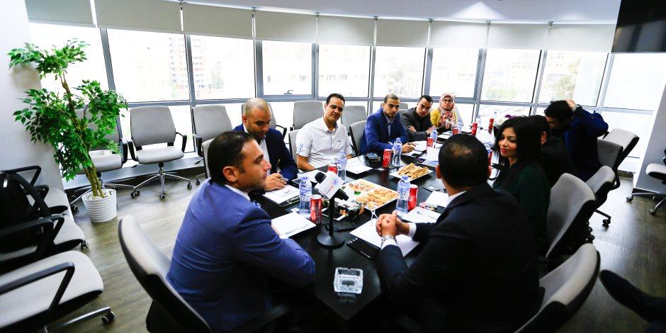 """رئيس """"المصرية للاتصالات"""" يزور مؤسسة اليوم السابع وصوت الأمة ويعقد ندوة عن مستقبل الشركة"""