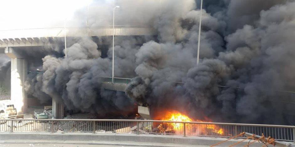 شبح النيران يحاصر «قطار جرد» مخازن الأحياء.. في الهرم كانت البداية (صور)