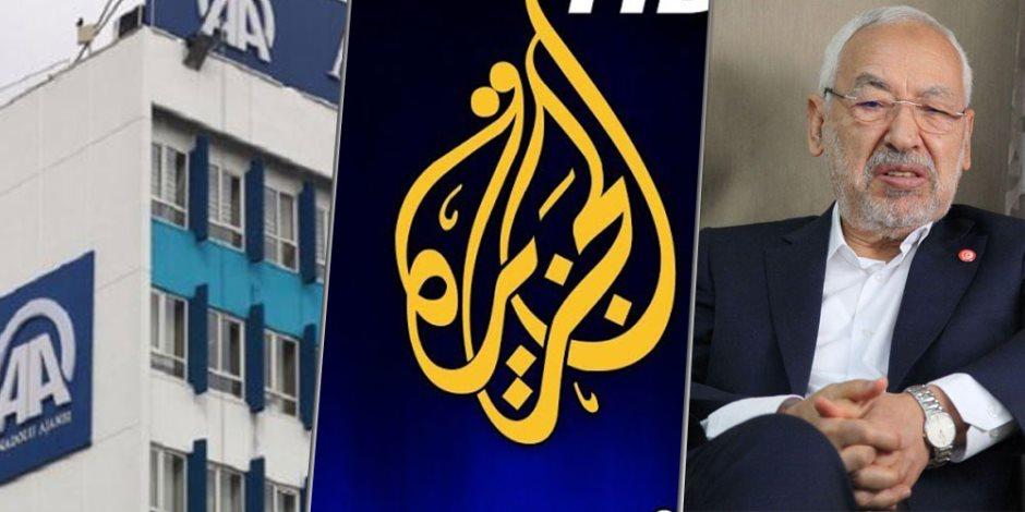 جماعة الإخوان الإرهابية والأناضول والجزيرة.. «بالون اختبار» باء بالفشل