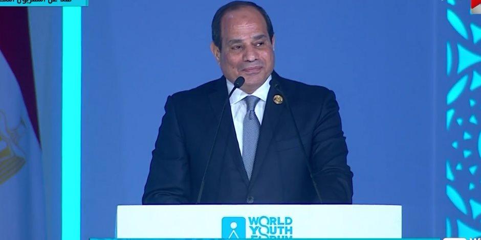 الرئيس السيسي يفتتح منتدى شباب العالم 2018.. ويوجه رسالة للإيزيدية نادية مراد