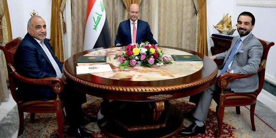 تأخر الحكومة السبب.. ماذا حدث في اجتماع «الرئاسات الثلاث» في العراق؟