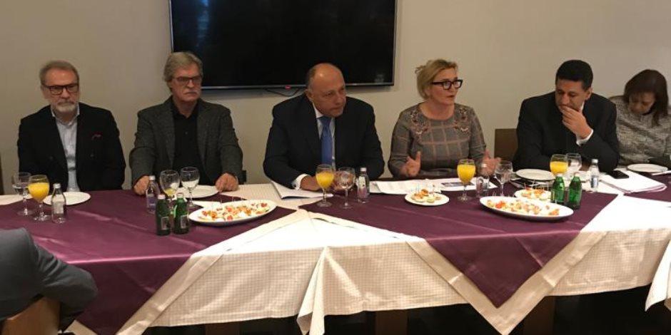 تفاصيل لقاء وزير الخارجية مع رؤساء كبرى الشركات الصربية في بلجراد (صور)