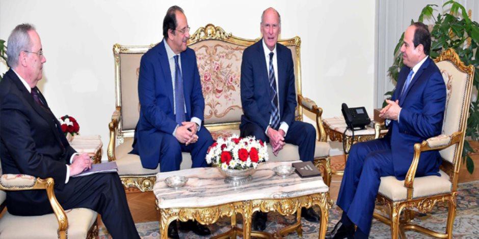 السيسى يستقبل رئيس الاستخبارات الأمريكية ويبحثان التعاون الأمنى
