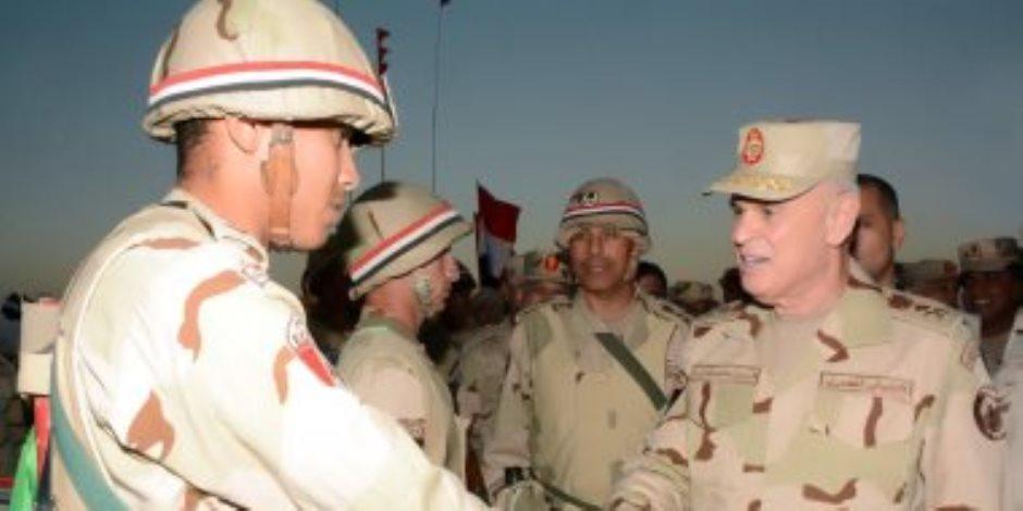 """الفريق محمد فريد يشهد المرحلة الرئيسية لمشروع """"إعصار 56"""" بالجيش الثالث"""