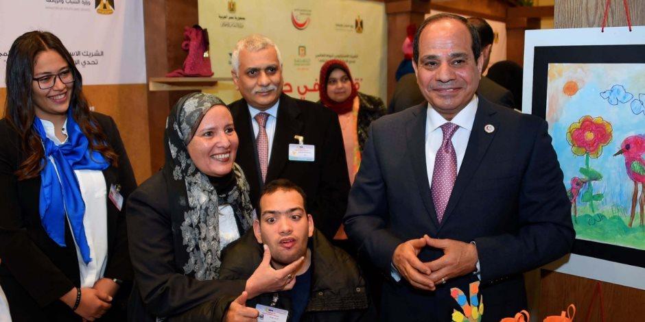 السيسي يعلن تخصيص 100 مليون جنيه من صندوق تحيا مصر لذوى الاحتياجات الخاصة