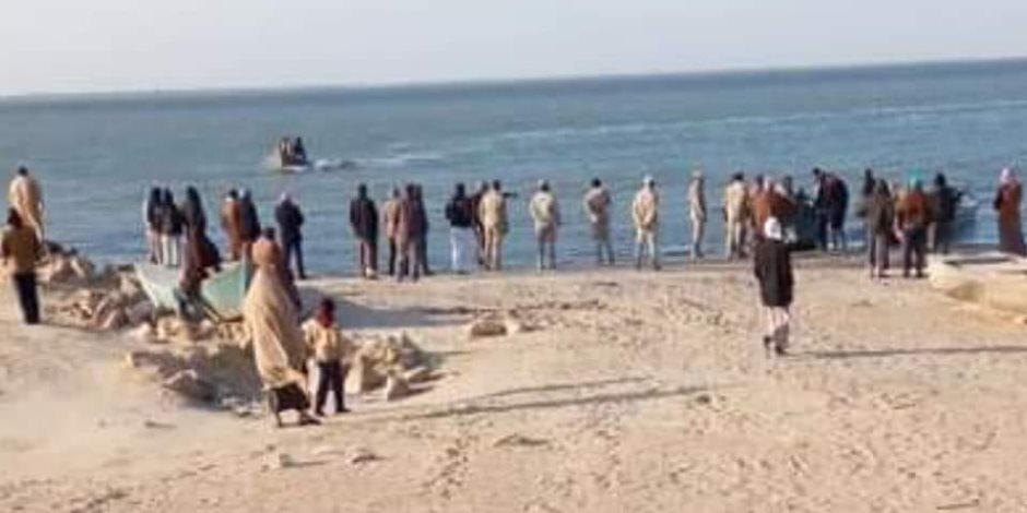 اختفاء قارب يحمل 3  صيادين في بحيرة البردويل بسيناء ..ومدير البحيرة: البحث جار