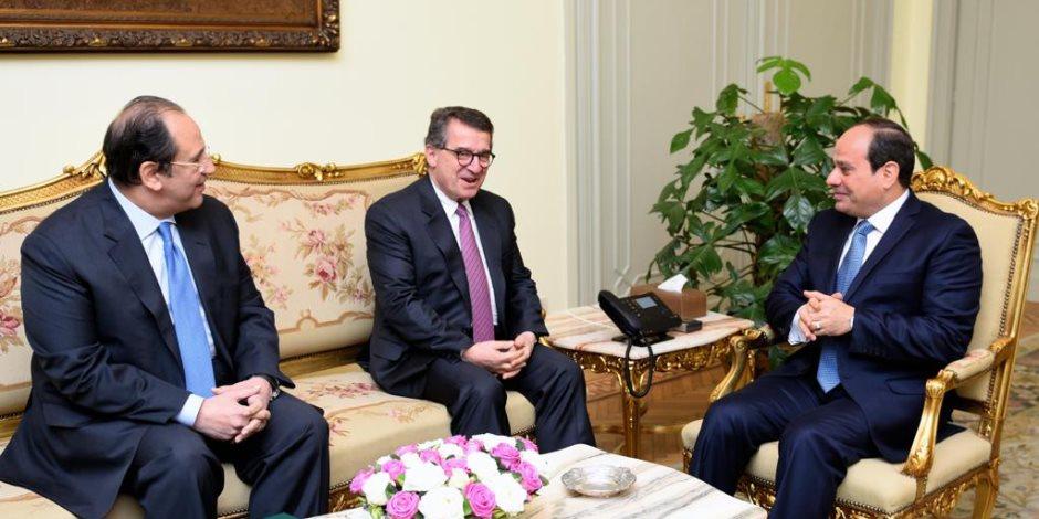 الرئيس السيسى يلتقي مدير المخابرات اليوناني لبحث التعاون الثنائي