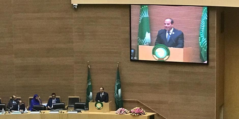 السيسى: سنعمل على تعزيز التنمية وإعادة الإعمار وتوفير فرص عمل بأفريقيا