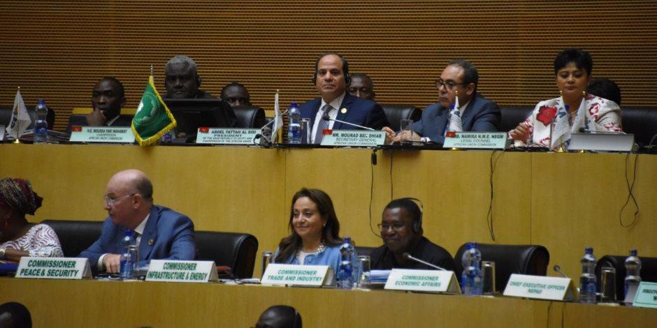 تفاصيل اليوم الثاني والأخير للقمة الأفريقية فى إثيوبيا برئاسة السيسى
