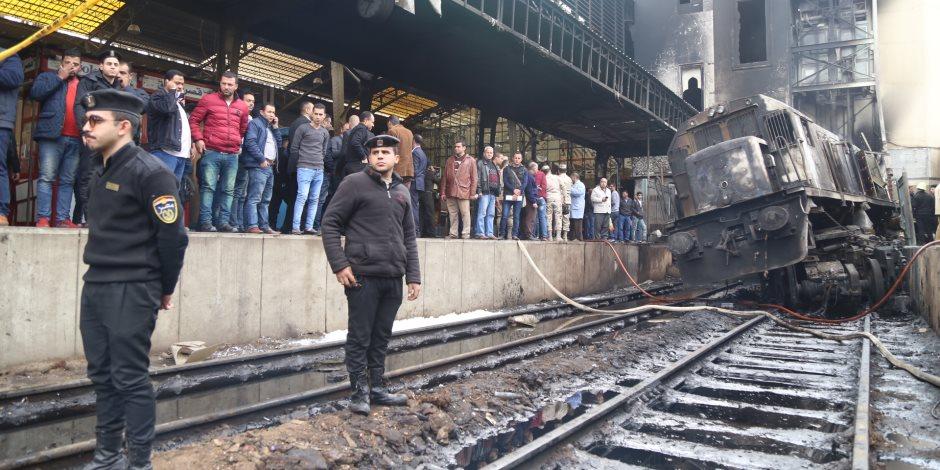 أول وفد برلماني يزور محطة مصر لمتابعة تطورات حادث احتراق القطار