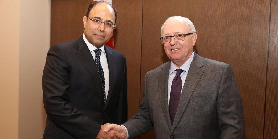 سفير مصر في أوتاوا يلتقي رئيس مجلس الشيوخ الكندي