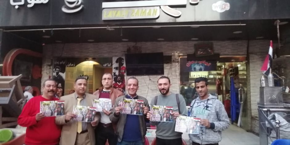 مواطنوان يواجهون دعوات مقاطعة الاستفتاء بـحملة «دستورنا حياتنا» (صور)