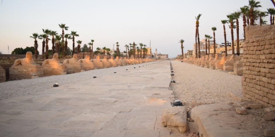 إحياء الطريق الفرعوني الساحر بالأقصر.. والوزارة: سيغير الخريطة السياحية