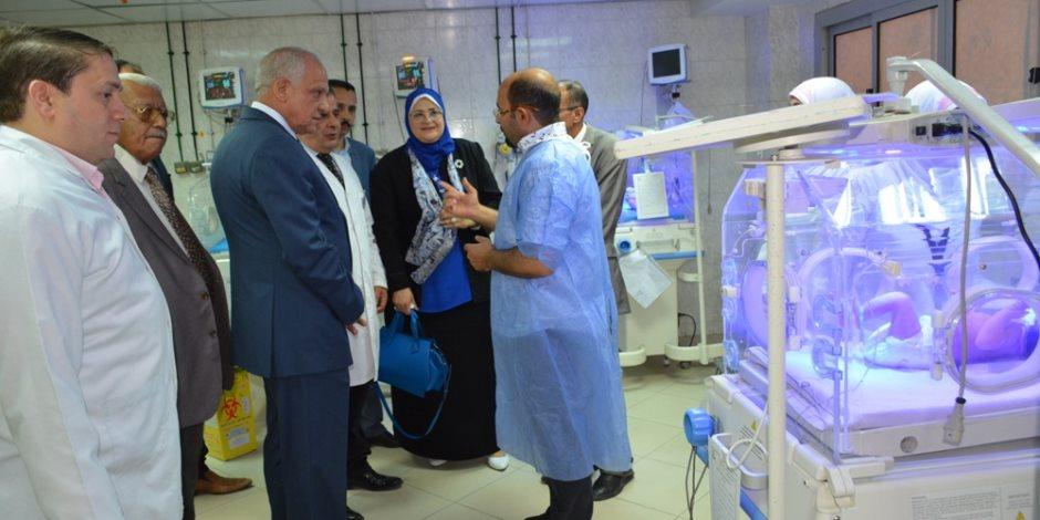 محافظ الجيزة يفتتح وحدة الغسيل الكلوي ورعاية الاطفال بمستشفى الوراق المركزي (صور)