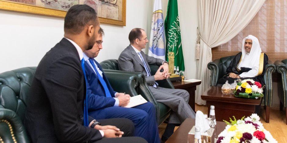 أمين عام ربطة العالم الاسلامى يبحث مع سفير النمسا بالسعوديه التوعية بخطورة خطاب التطرف والكراهية