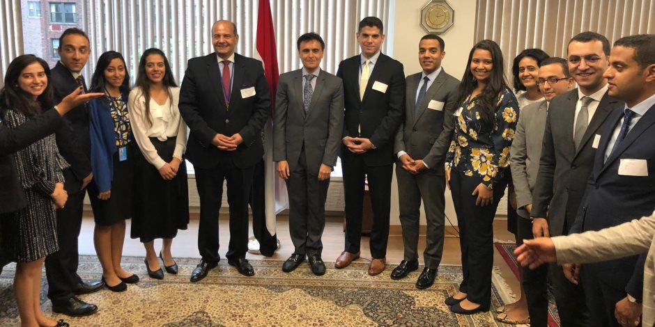 القنصل العام لمصر في نيويورك 14 دبلوماسيا مصريا من وزارة الخارجية
