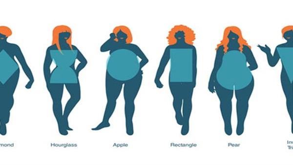 بالصورة.. 6 أحجام لشكل جسمك تعرفي عليها