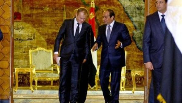 توسك يؤكد للسيسي دعم أوروبا للإصلاحات الاقتصادية والاجتماعية التي ينشدها الشعب المصري