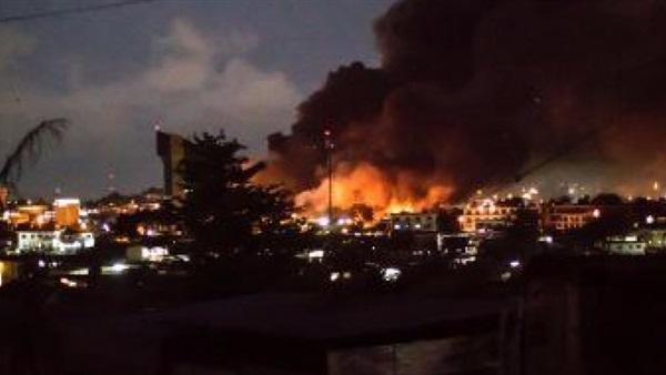 اخماد حريق بمصنع منسوجات بالعاشر من رمضان