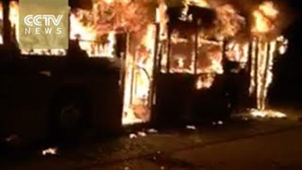 بالفيديو.. إحتراق حافلة بالصين تسبب في مقتل 14 شخصًا