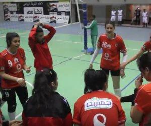 فريق سيدات الأهلي للطائرة بطل الدوري الممتاز رسميا (فيديو)