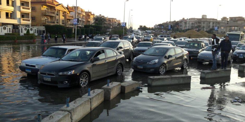 شلل مروري بجسر السويس بسبب كسر ماسورة مياه    صوت الأمة