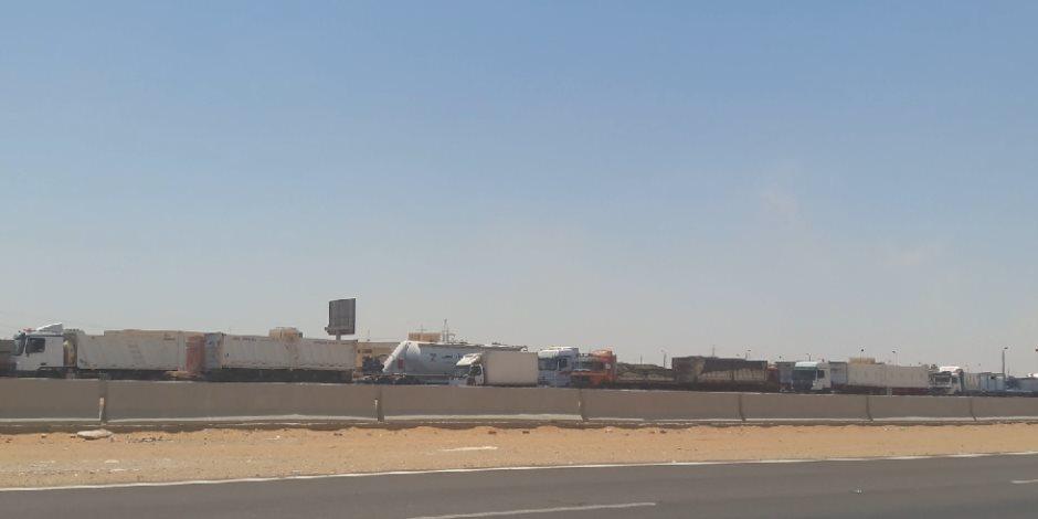 شلل مروري بطريق «السويس القاهرة».. والشرطة ترد   صوت الأمة