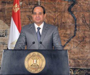 الرئيس السيسى يهنئ المصريين: المشاركة في فى الاستفتاء سيُسجل بحروف الفخر فى سجل أمتنا