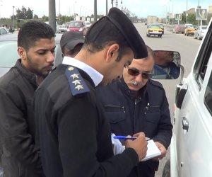 تحرير 366 مخالفة مرورية وضبط 4 سائقين لتعاطيهما المخدرات بمطروح