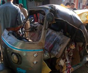 مصرع اثنين وإصابة 2 أخرين في حادث تصادم بمركز سمسطا جنوب بني سويف