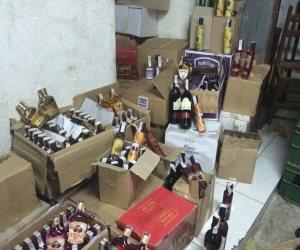 ضبط 4190 زجاجة بيرة وخمور مختلفة غير خالصة الرسوم الجمركية بالإسكندرية