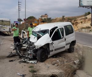 الصحة: مصرع وإصابة 18 في حادث تصادم بالفيوم