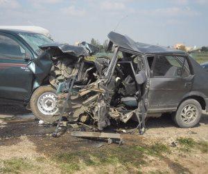 إصابة 2 في حادث تصادم 5 سيارات بطريق إسكندرية الصحراوي