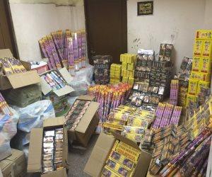 مباحث الفيوم تحبط  محاولة بيع 40 ألف «صاروخ» قبل عيد الأضحى