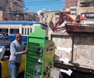 رفع وإزالة 263 حالة إشغال مخالفة بحي جنوب في المنيا