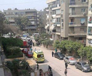 نيابة جنوب القاهرة تبحث عن كاميرات مراقبة بمحيط انفجار المعادي (صور)