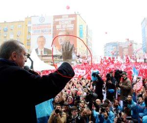«أردوغان» يرفع شارة «رابعة» ويحشد مؤيديه