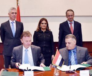 وزيرة الاستثمار تشهد توقيع اتفاق تمويل محطة الرياح بخليج السويس